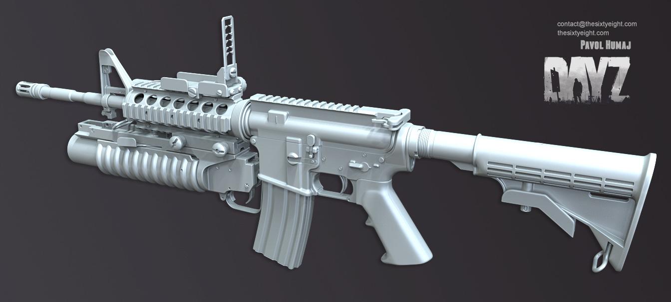 M4A1 Grenade Launcher WIP : dayz  M4A1 Grenade La...